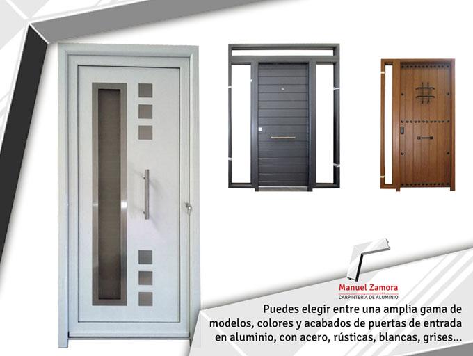 Carpinter a de aluminio manuel zamora - Puertas de entrada aluminio ...
