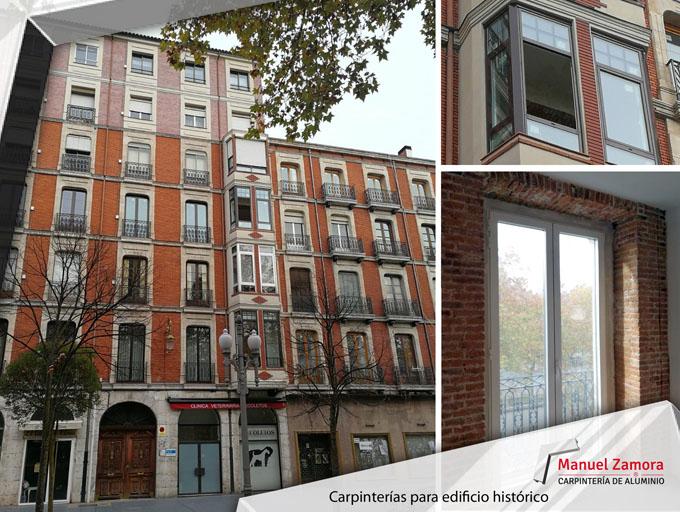 Edificio histórico cambio de ventanas