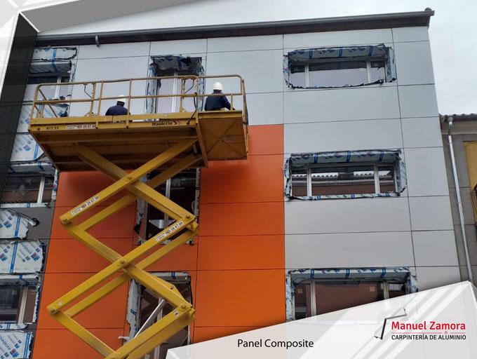 Panel composite en fachada