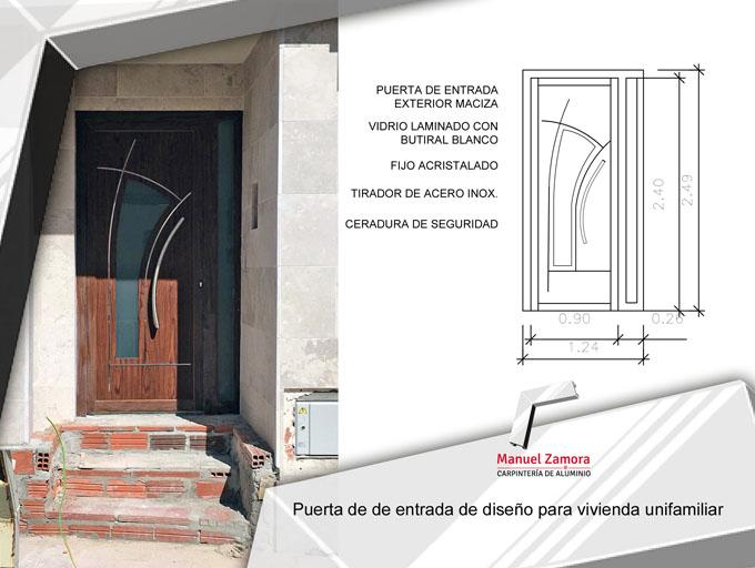 Puerta de entrada de diseño