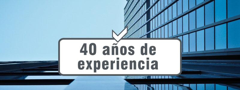 40 años de experiencia
